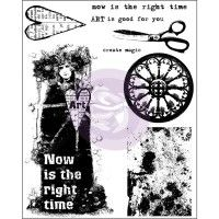 Prima - Cling Stamps - Now is the Right Time