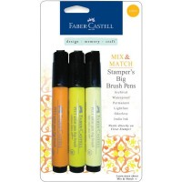 Faber-Castell - Mix & Match - Stamper Big Brush Pens - Yellow